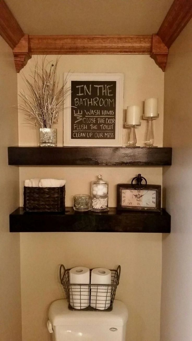 23 diy floating shelves and bathroom update | floating shelves diy, small bathroom decor