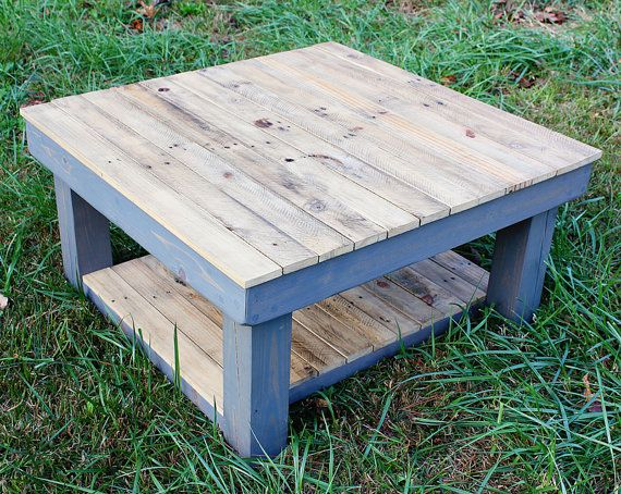 Vintage Farmhouse Reclaimed Wood Coffee Table by YonderYearsShop