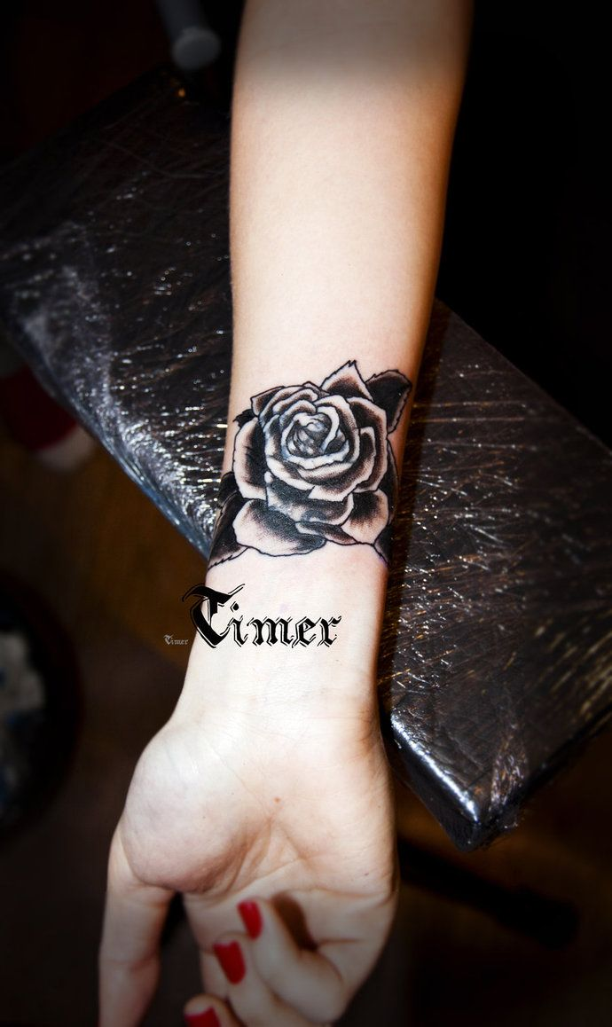black and grey rose tattoo by TimHag on DeviantArt