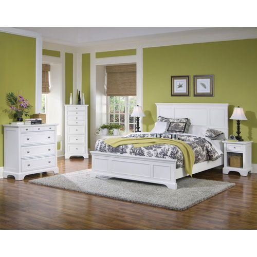 Home Styles Furniture Naples White Queen Bedroom Set