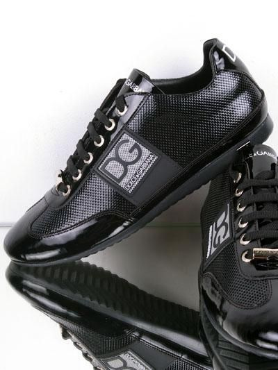 Dolce & Gabbana Leather Running Shoes for Men - Black..more want to see the page :http://triathlonomatic.com/top-10-best-running-shoes-for-men-in-2014/