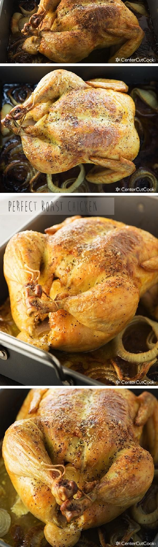This is my all-time favorite recipe for roast CHICKEN with hints of LEMON and GARLIC. Tender, savory, delicious!