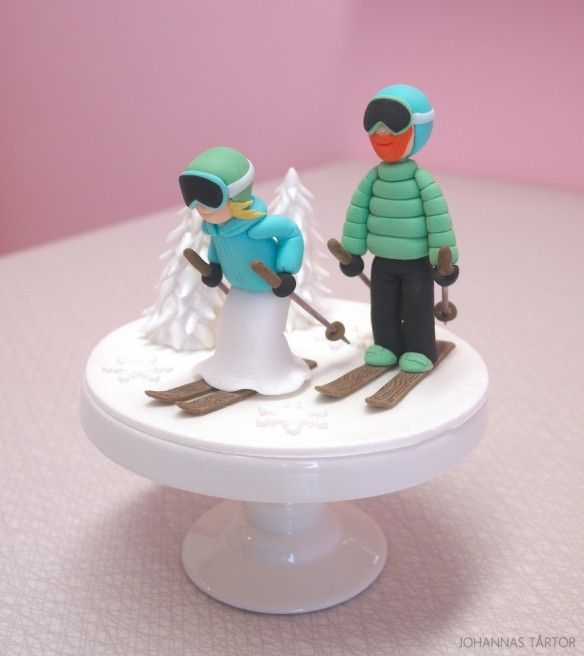 skiers wedding cake toppers cake topper skiers inspiration recipes 20178