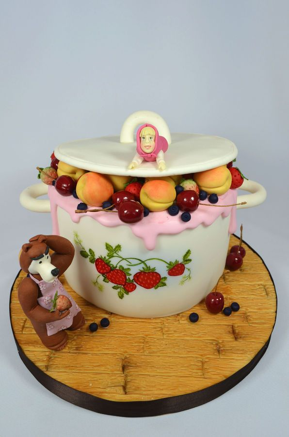 26 best masha images on Pinterest Bear cakes Birthday cakes and