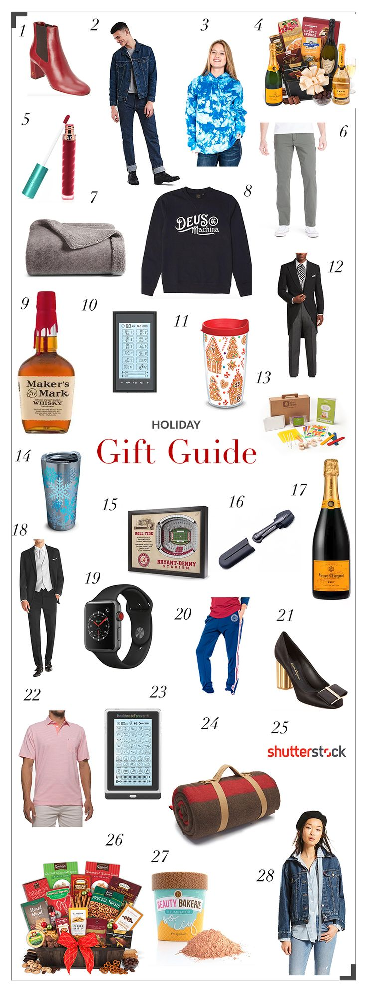Holiday Gift Guide: Gifts for Everyone on Your List #giftguide #holiday #holdiaygiftguide #holidaygifts #gifts #giftsforhim #giftsforher #giftgiving #christmas #christmasgifts #giftideas