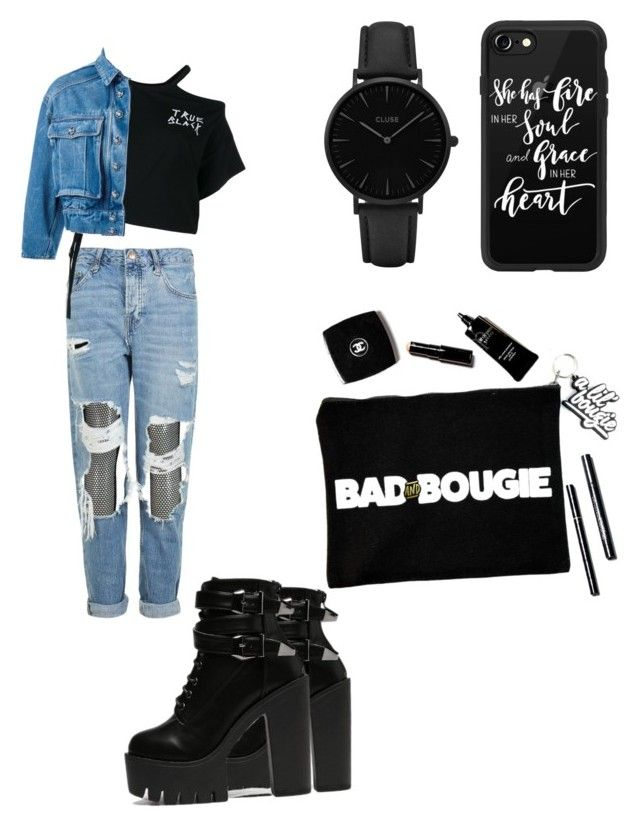 """Untitled #33"" by kleefashion on Polyvore featuring Boohoo, Topshop, Ann Demeulemeester, Dolce&Gabbana, Casetify and CLUSE"