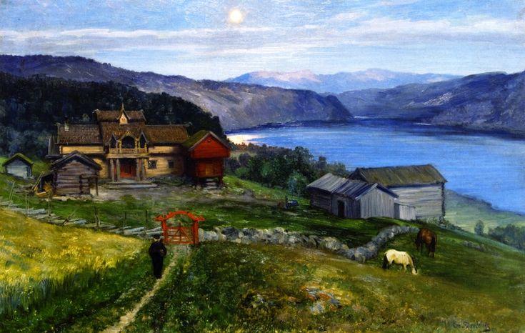 Christian Skredsvig  (1854-1924): A Fine Farm at Last, 1889