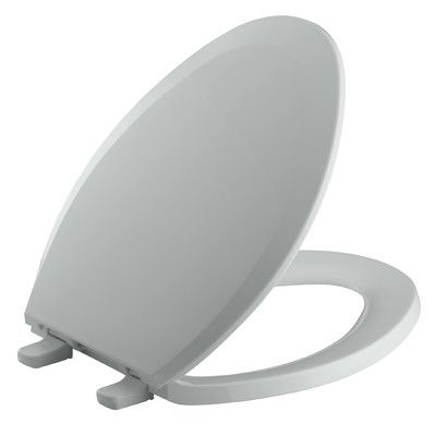 Kohler Lustra with Quick-Release Hinges Elongated Toilet Seat Finish: