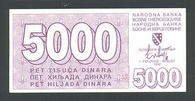 BOSNIA, 5000 Dinara 1-8-1992 UNC ,P27a siege of SARAJEVO , VERY RARE IN UNC! http://www.ebay.com/itm/BOSNIA-5000-Dinara-1-8-1992-UNC-P27a-siege-SARAJEVO-VERY-RARE-UNC-/160758858808?pt=Paper_Money&hash=item256df98438