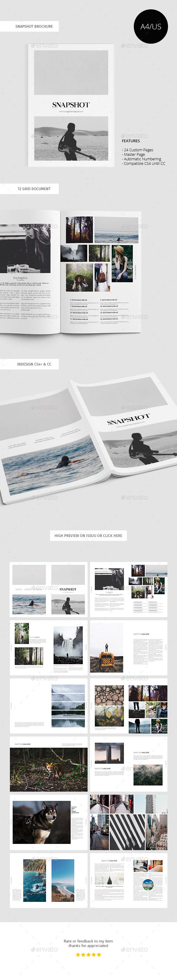 Snapshot Photography Brochure Template InDesign INDD #design Download: http://graphicriver.net/item/snapshot-photography-brochure/13871727?ref=ksioks