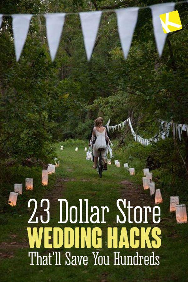 22 Dollar Store Wedding Hacks That'll Save You Hundreds