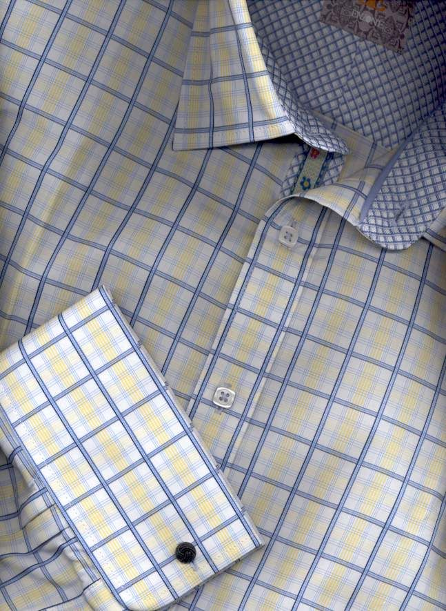 French Cuff Dress Shirts - Mens French Cuff Shirts Large Sizes, Mens Dress Shirts French Cuff..... Sharp  If I had to paint a picture of my husband in a shirt form....this would be him!!  U of M colors and forever FRENCH cuffs!!