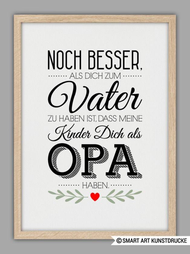 """Originaldruck - """"BESTER OPA"""" Kunstdruck, Vatertag Ges... - ein Designerstück von Smart-Art-Kunstdrucke bei DaWanda"""