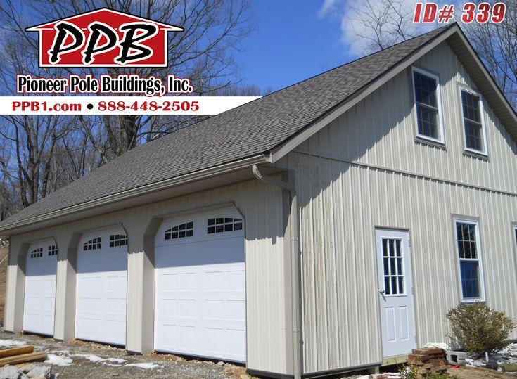 Pin by Pioneer Pole Buildings Inc on Three Car Garages  Pole barn garage Pole buildings