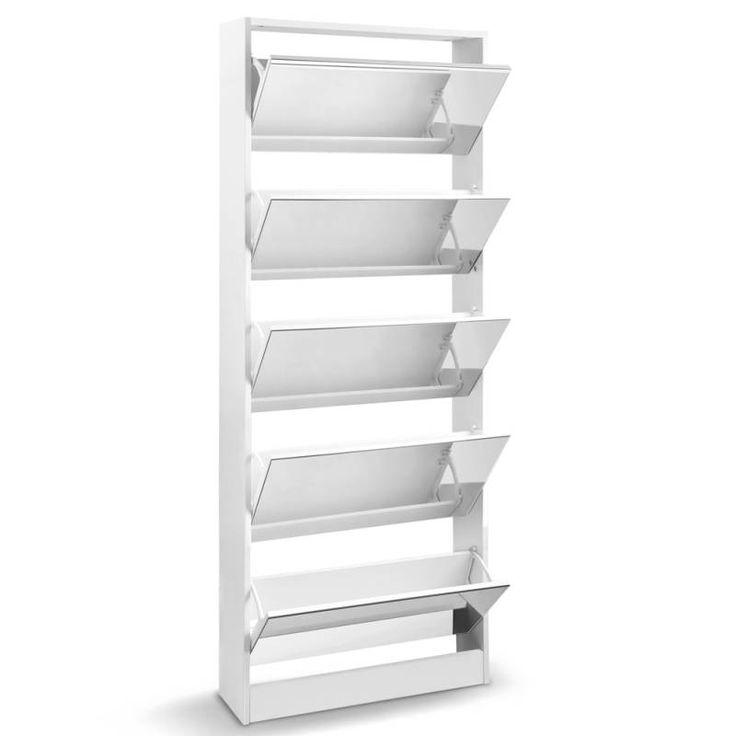 5 section shoe rack cupboard w full length mirror buy furniture