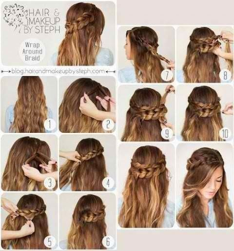 DIY Braided Hairstyle.
