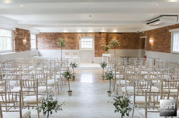 Ceremony room Sopley Mill Summer Wedding