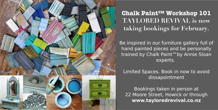 Our chalk paint workshopsin January have already soldout! We have now released February classes, limited spaces book in early to avoid disappointment. For more information or to make an online bo…