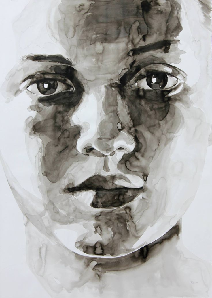 """Tanya Poole, """"Sophie"""" from The Imaginary Audience series. 2014, ink on paper"""