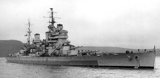 """King George V"" battleship HMS Anson in 1945"