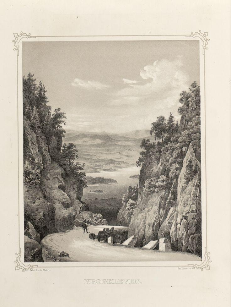 Norge fremstillet i Tegninger - Bernt Lund - Krogkleven. jpg (3688×4896)