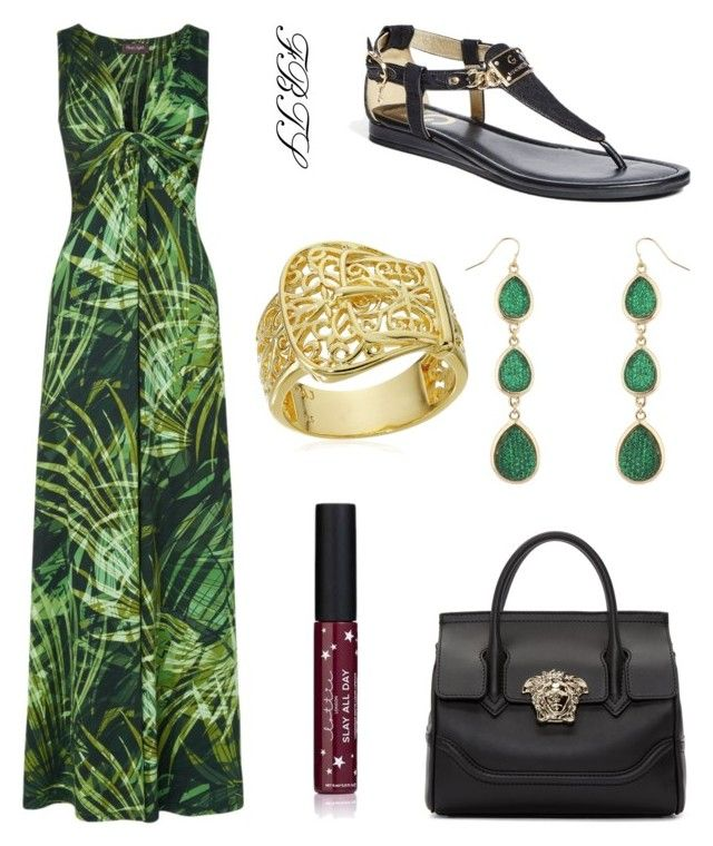 Mean  Green by flybeyondtheskies on Polyvore featuring Phase Eight and Versace