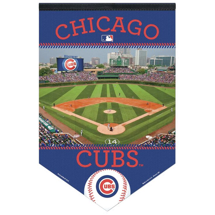 """Chicago Cubs WinCraft 17"""" x 26"""" Stadium Premium Banner - $17.59"""