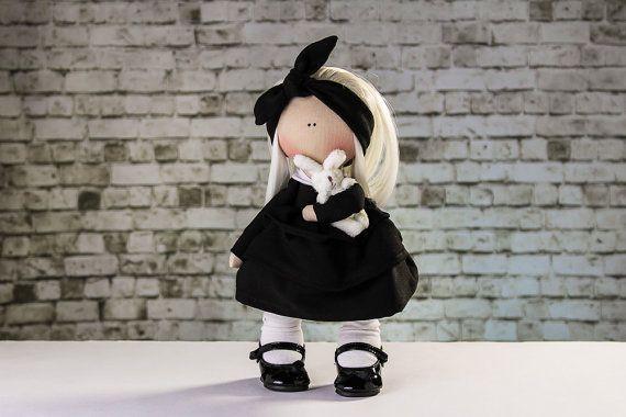 Doll Emily. Tilda doll.  Textile doll. Soft toy. Cute by OwlsUa