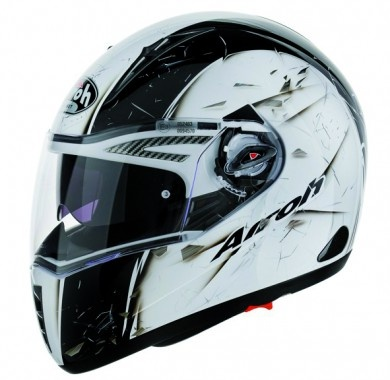 Casque AIROH Route Pit One XR Fast Blanc Brillant