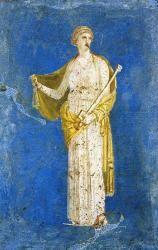 """""""Reporter aux calendes grecques"""" - Médée, détail de fresque (Ier siècle), Stabie - Italie"""