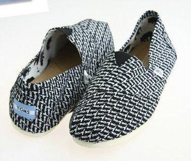 TOMS Canvas Shoes Fashion black Letter Women