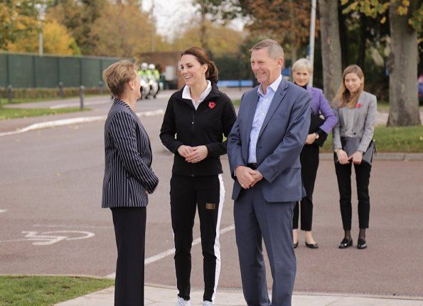 On October 31, 2017, Duchess Catherine of Cambridge visited the Lawn Tennis Association at National Tennis Centre in London, England. The Duchess of Cambridge became Patron of the LTA (Lawn Tennis Association) in December 2016.