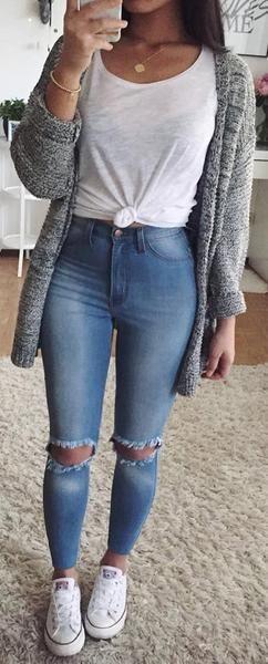 Niedliche adrette Back to School Outfits Ideen für Teenager für College 2018