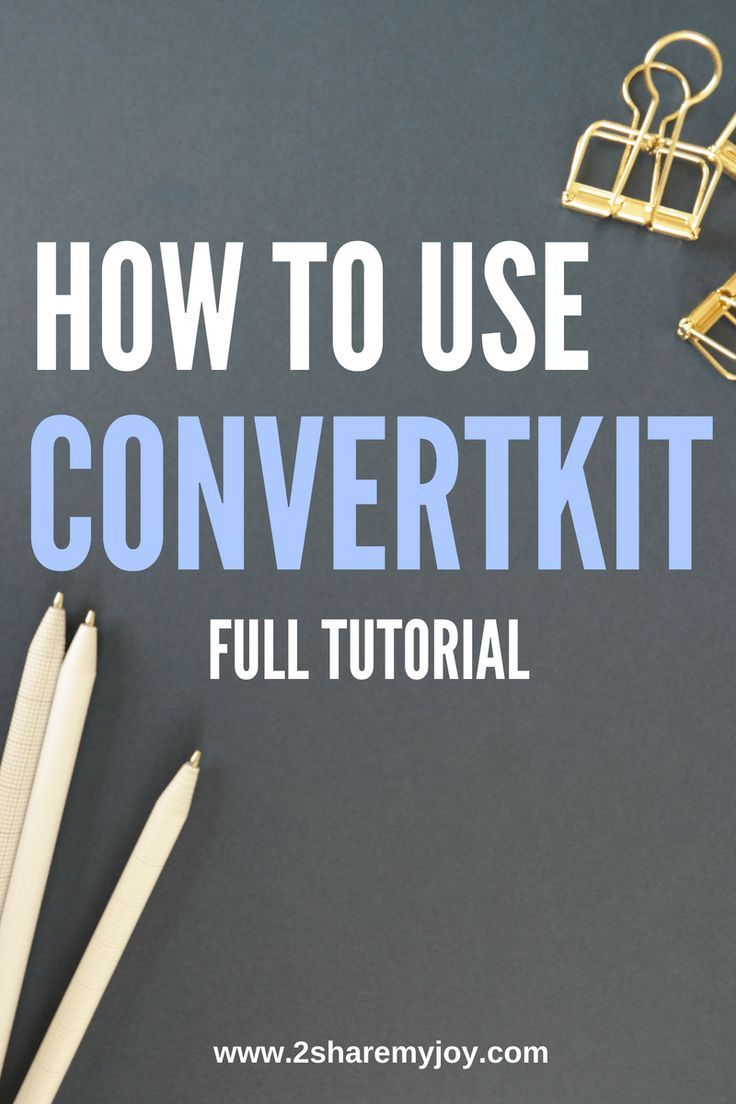 Convertkit Tutorial: How to build your email list | Pinterest ...
