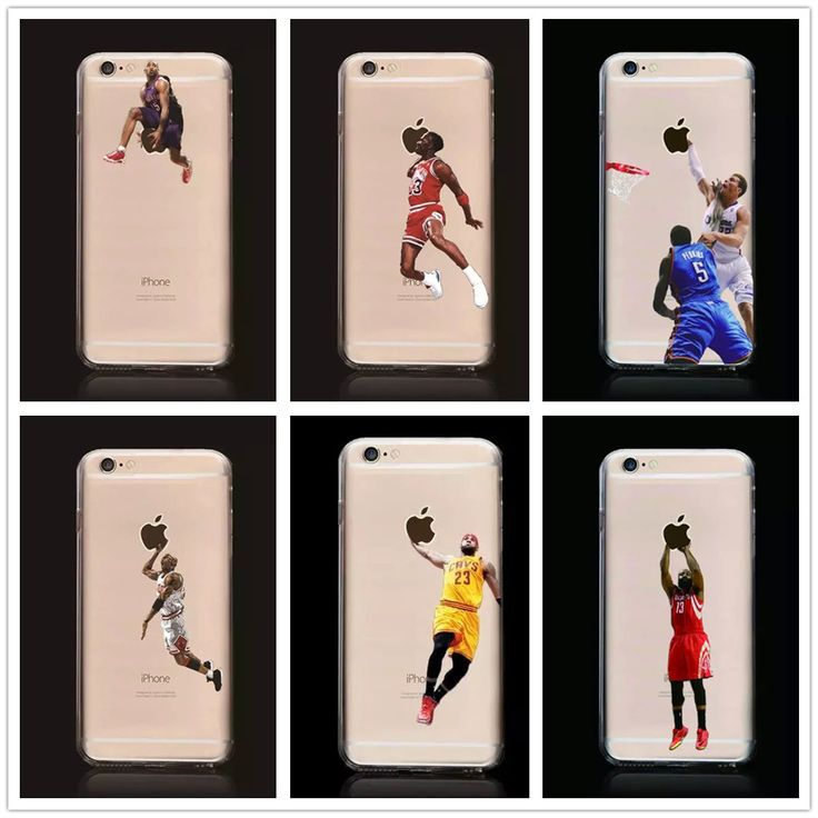 New Kobe Bryant Stephen Curry Basketball Stars Case for iPhone 6s Michael Jordan LeBron James Soft TPU Cover for iPhone 6