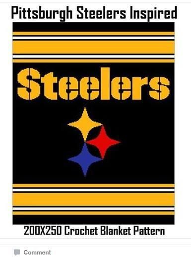 Steelers Inspired Blanket Crochet Graph by CrochetInfinity - Craftsy