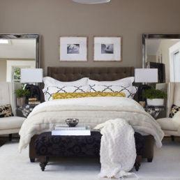 Symetrical contemporary bedroom design
