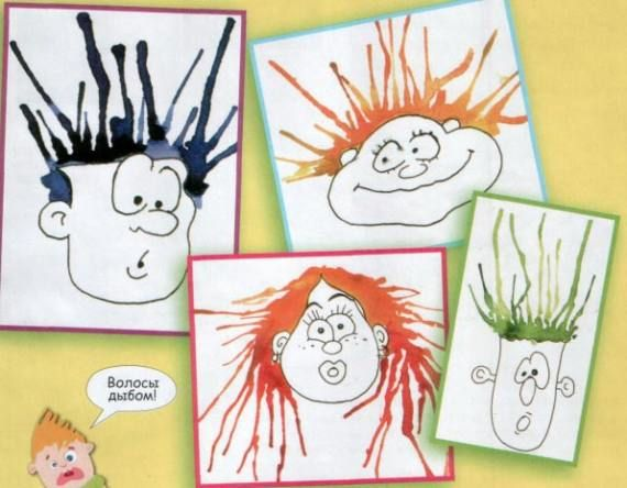 Blowing ink 'hair' with a straw! Fun portraits double as an oral motor activity for lip seal, cheek tension, and tongue retraction. Visit pinterest.com/arktherapeutic for more #oralmotor ideas