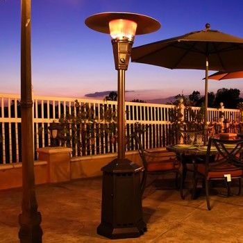 Lava Heat Liquid Propane 40000 BTU Patio Heater With Infrared Radiant Heat,  Hexagonal Weighted Base, Solid Steel Construction, Electronic Ignition And  Tilt ...