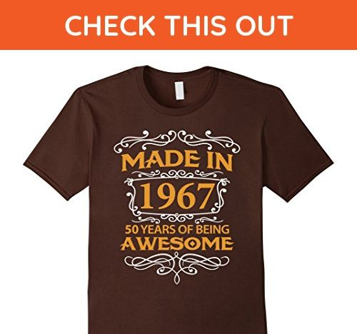 Mens 50th Birthday Gift T-Shirt Made In 1967 - 50 Years Old Shirt XL Brown - Birthday shirts (*Amazon Partner-Link)