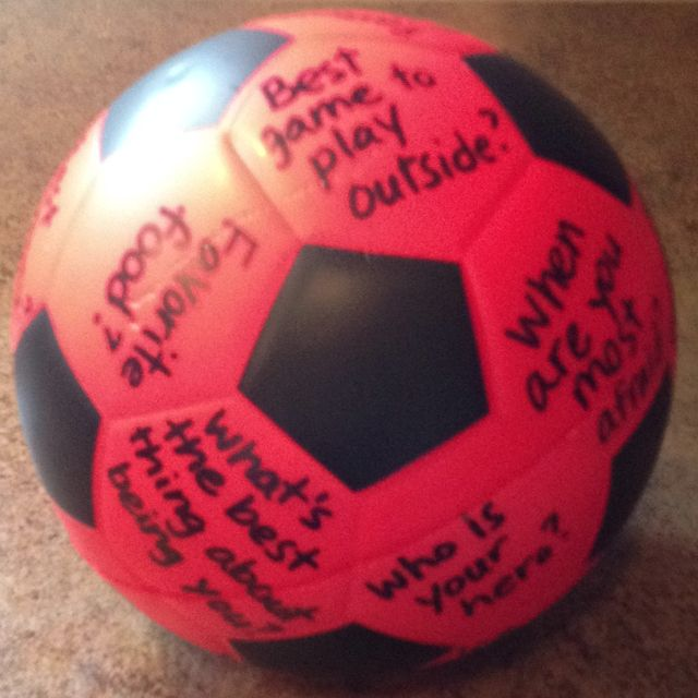 Just made a toss & talk ball....thanks  Pinterest!! Used it for a game for primary sharing time