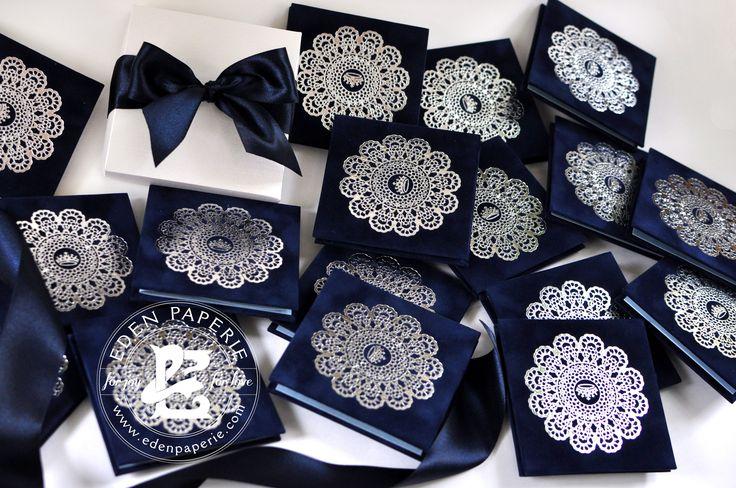 navy suede silver foil