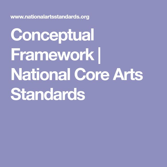 Conceptual Framework  | National Core Arts Standards