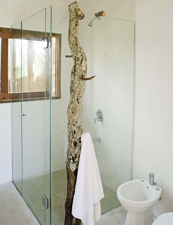 Rustic and clean lines...: Modern Interiors Design, Trees Trunks, Bathroom Features, Country House, Trees Branches, Towels Racks, Style File, Dreams Shower, Friends Country