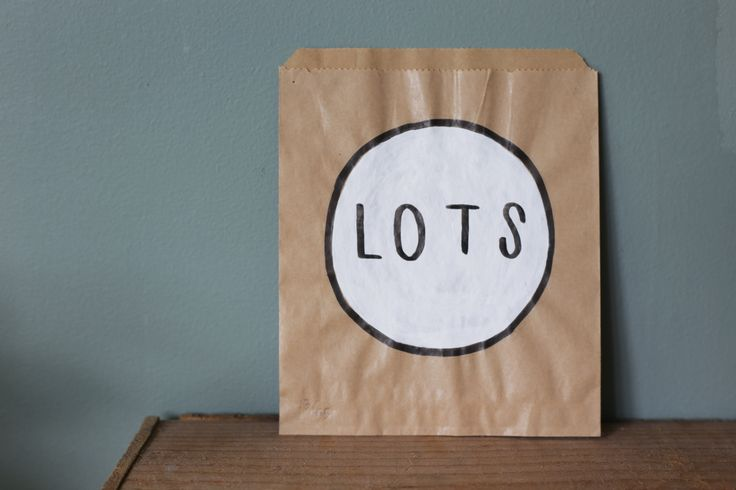 Lots by Toby Morris, from Endemic World. #placesandgraces #collection #tobymorris #endemicworld #lots #paperbag #art