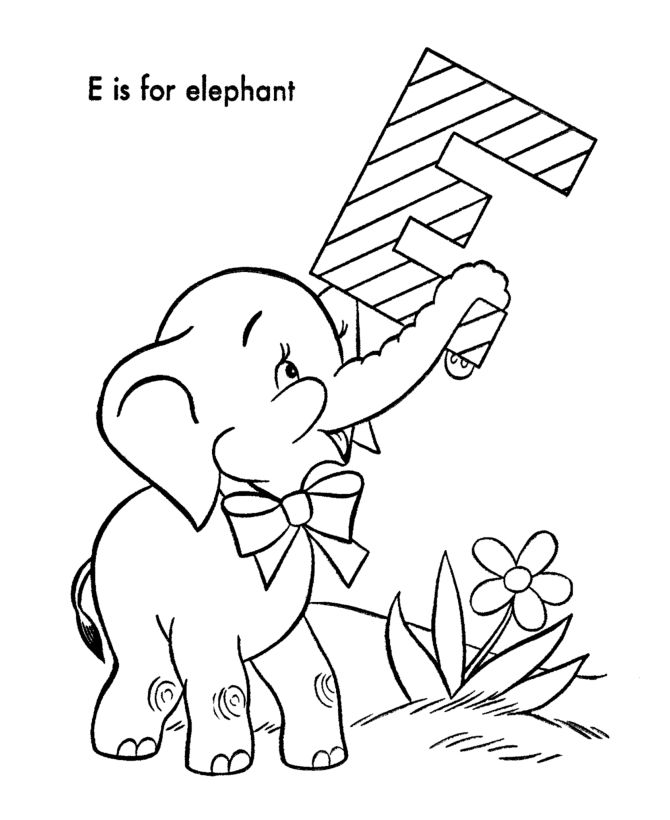 baby abc coloring pages - photo#8