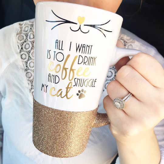Drinking coffee and loving your cat is all the better with a perfect mug! This mug will make a great addition to your home!