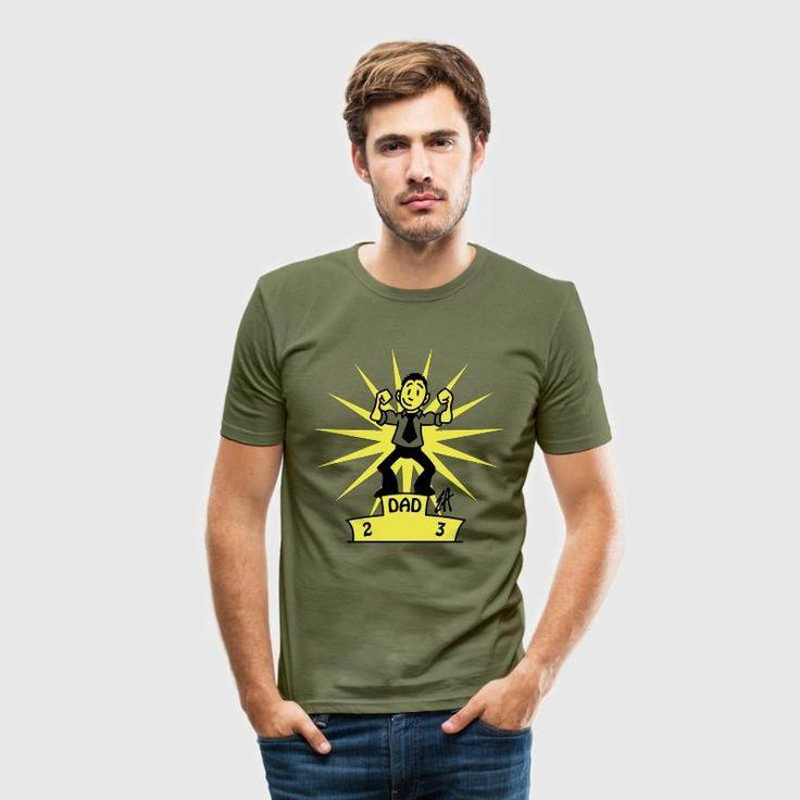 Vati # 1 T-shirt.    #vati #vatertag #vaderdag #fathersday #Spreadshirt #Cardvibes #Tekenaartje #SOLD