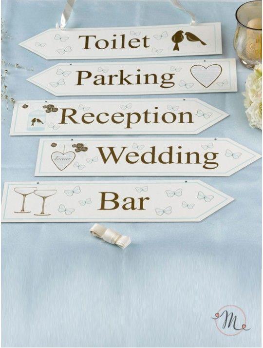 Segnaletica per wedding linea romantic.  Per non far perdere la strada ai vostri…