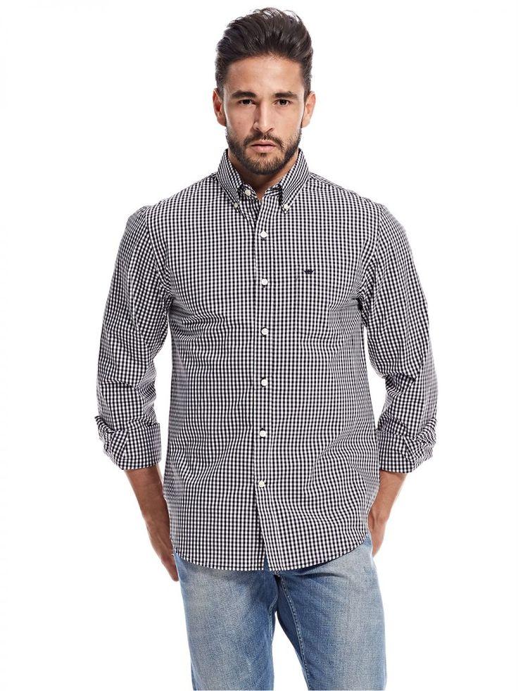 اشتري دوكرز قميص اسود قبة قميص -رجال - بلايز/ تيشيرتات | السعودية | سوق